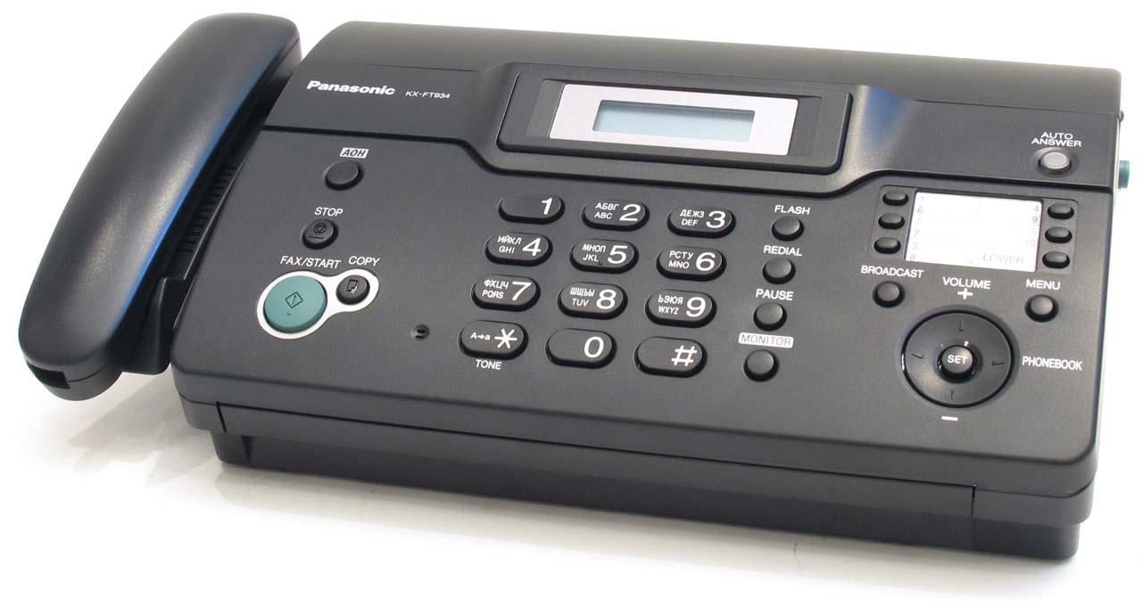 Факсимильный аппарат панасоник инструкция