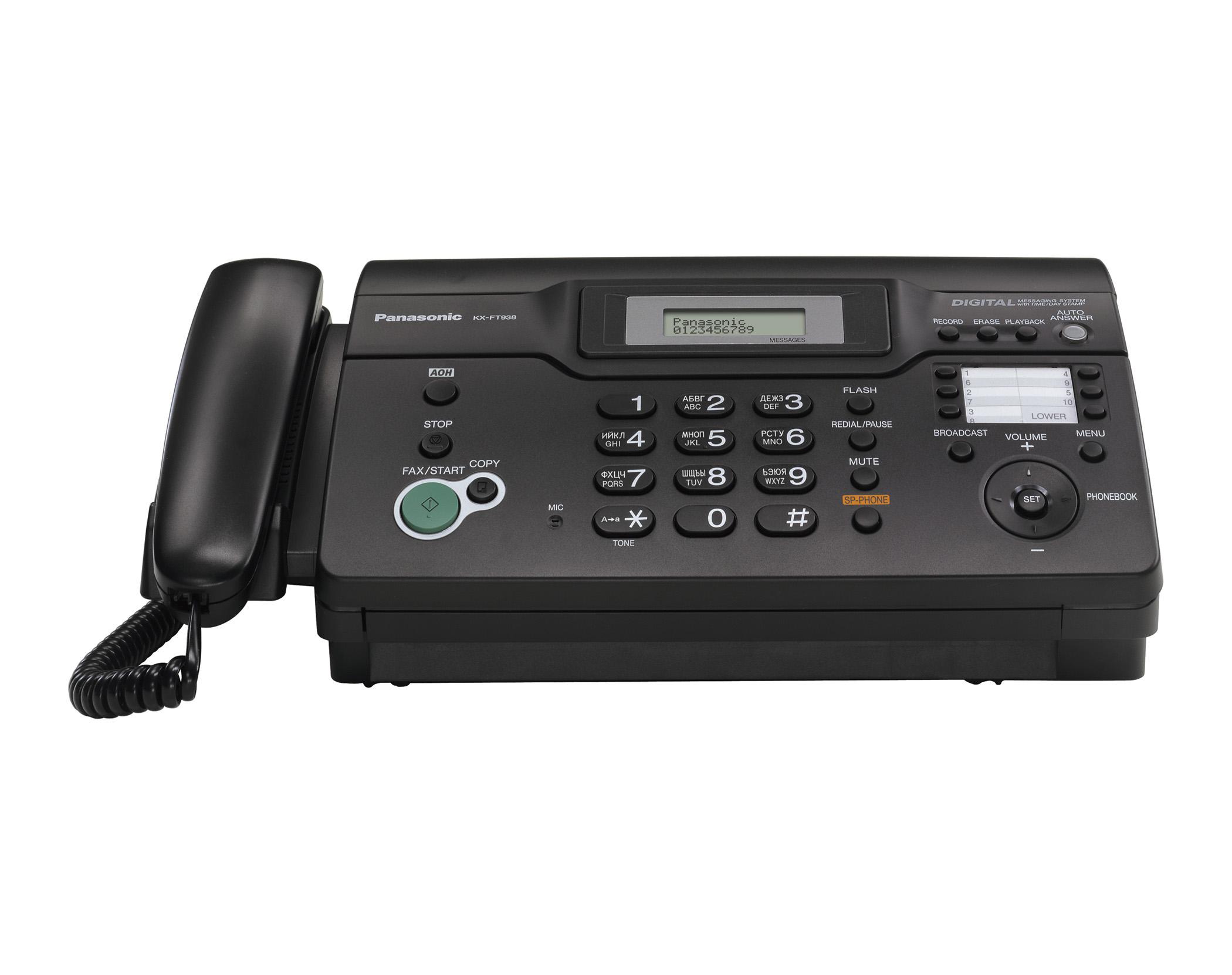 Инструкция к факсу panasonic kx ft938